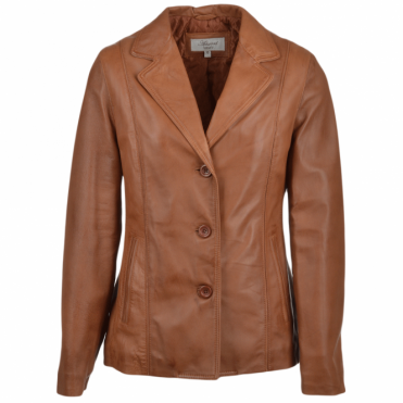 Leather Jacket Cognac/nap : Marabelle