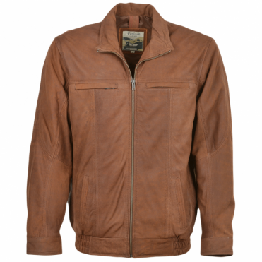 Leather Jacket Cognac/snu : Chardin