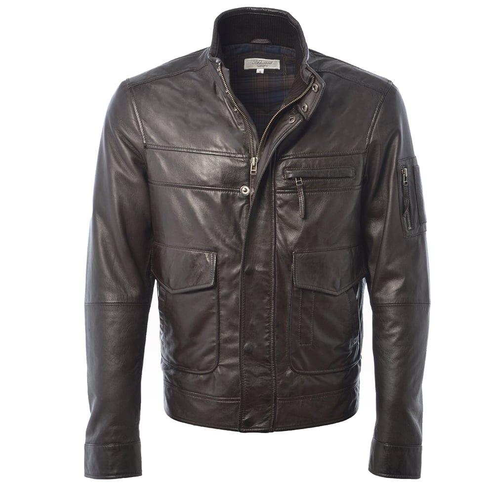 Mens Leather Jacket Black App Alexander Mens Leather