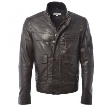Leather Jacket Dark-brown/App : Alexander