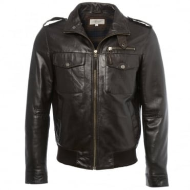 Leather Jacket Dark Brown/app : London