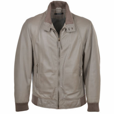 Leather Jacket Gray/app : Baker