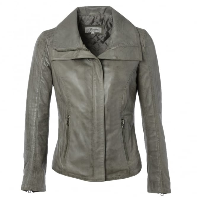 Ashwood Leather Jacket Gray : Elizabeth