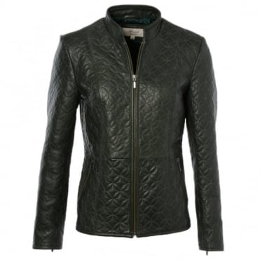 Leather Jacket Green : Agnus