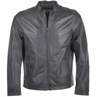 Leather Jacket Grey: Scott