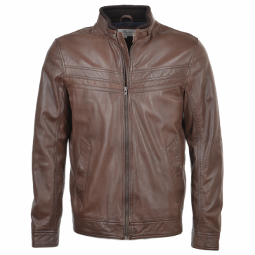 Leather Jacket Mid Brown : Andre