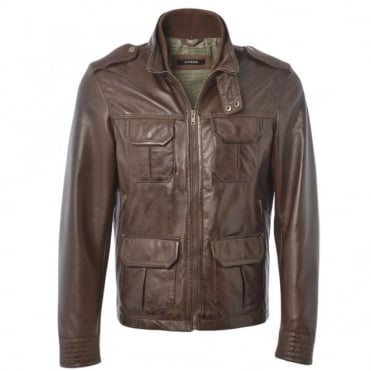 Leather Jacket Mid Brown/app : Royal Safari