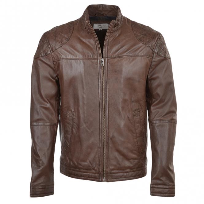 Sheepskin Rug Edinburgh: Mens Leather Jacket Mid Brown : Kastor