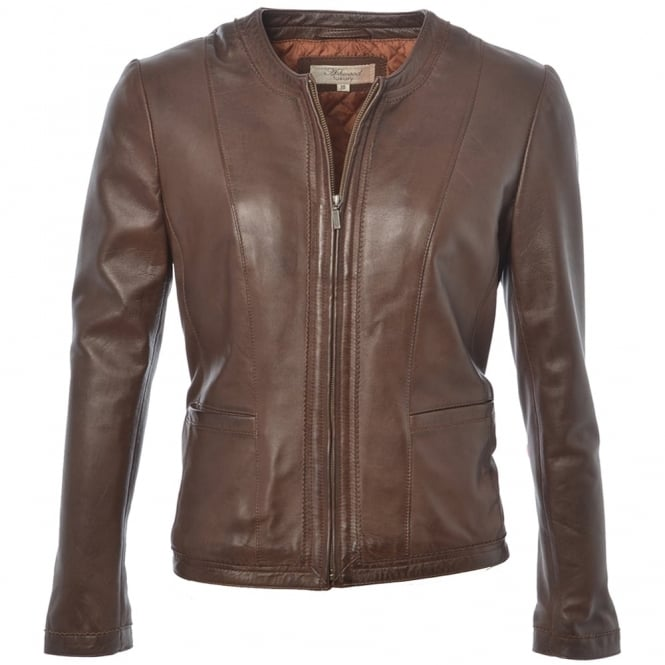 Ashwood Leather Jacket Mid Brown : Liona