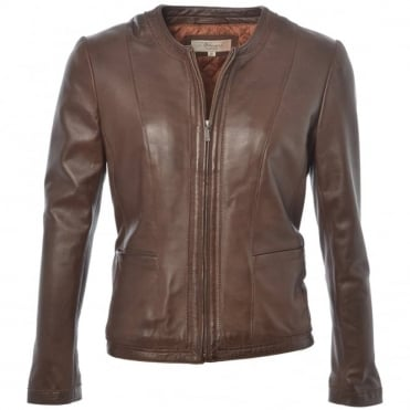 Leather Jacket Mid Brown : Liona