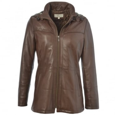 Leather Jacket Mid Brown : Molly
