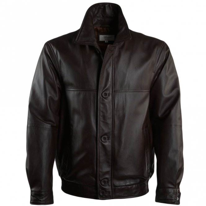 Ashwood Leather Jacket Mid Brown/nap : Ferdinand