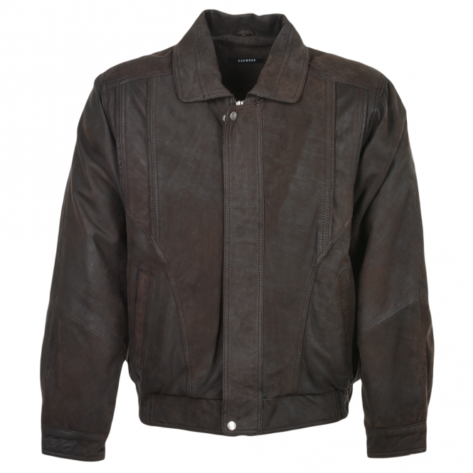 Ashwood Leather Jacket Mid Brown/snu : Bernard