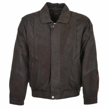 Leather Jacket Mid Brown/snu : Bernard