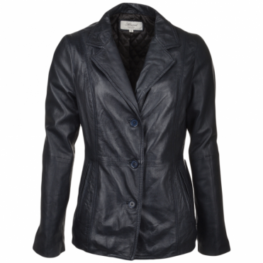 Leather Jacket Navy/nap : Marabelle