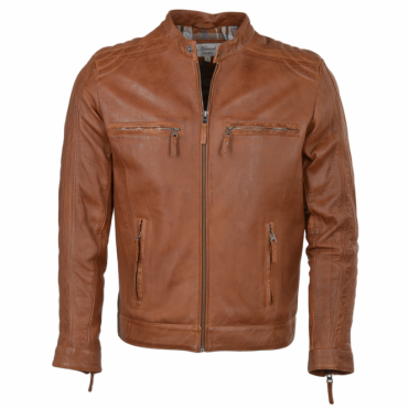 Leather Jacket Tan : Bristol