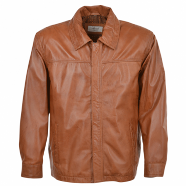 Leather Jacket Tan : Charlemagne
