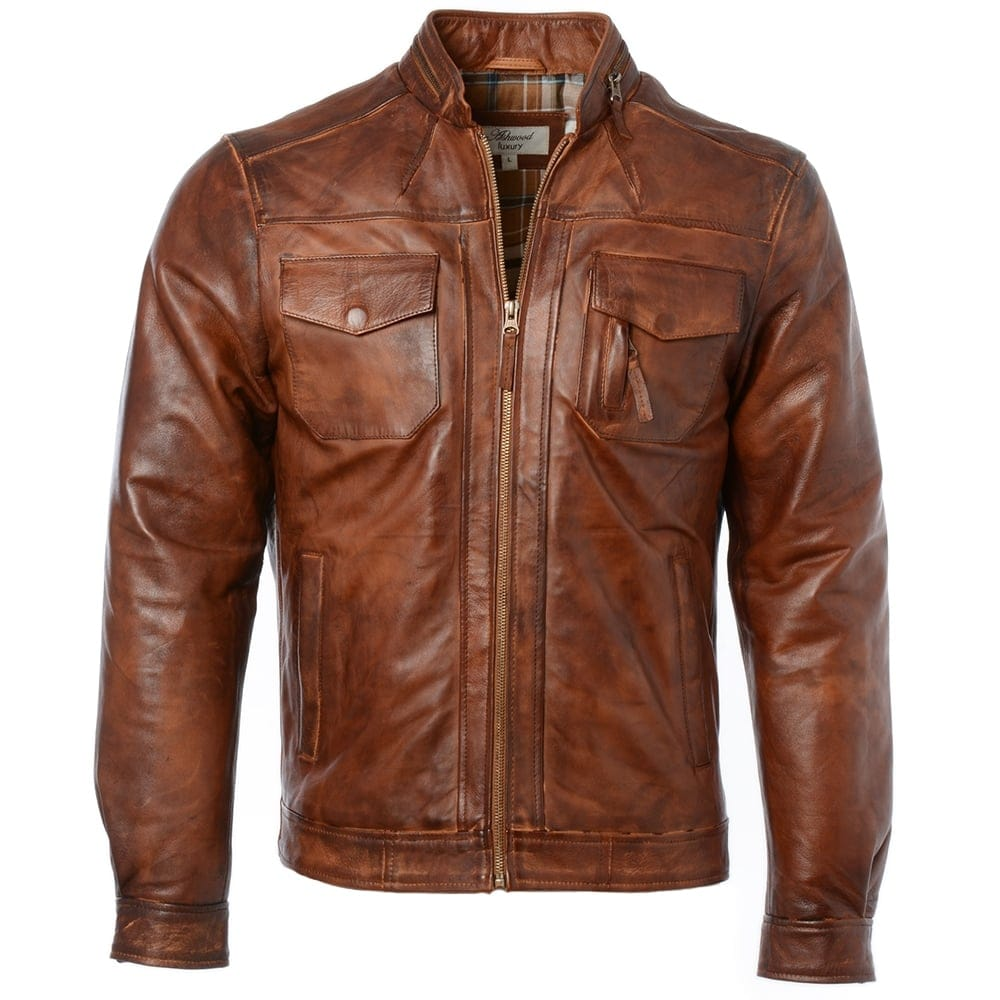 Leather jacket tan