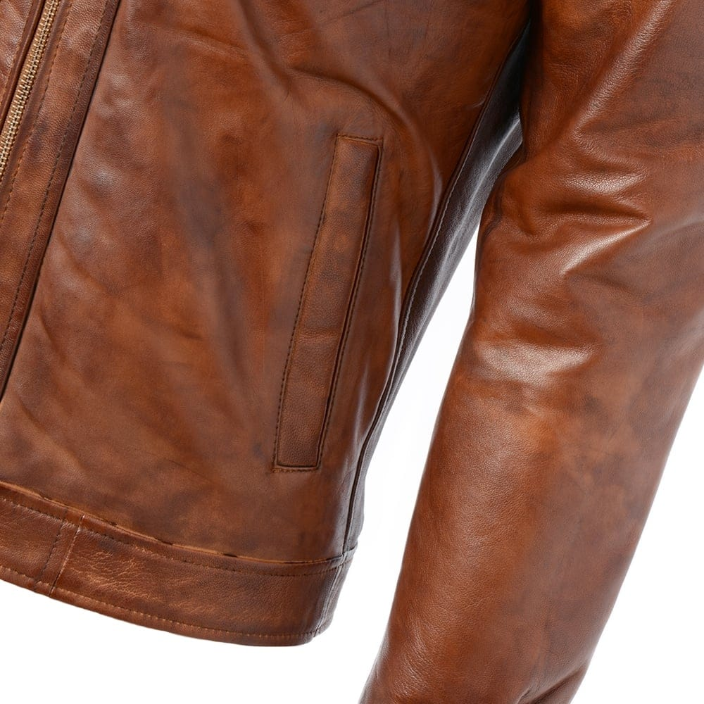 Mens Leather Jacket Tan Edinburgh Mens Leather Jackets