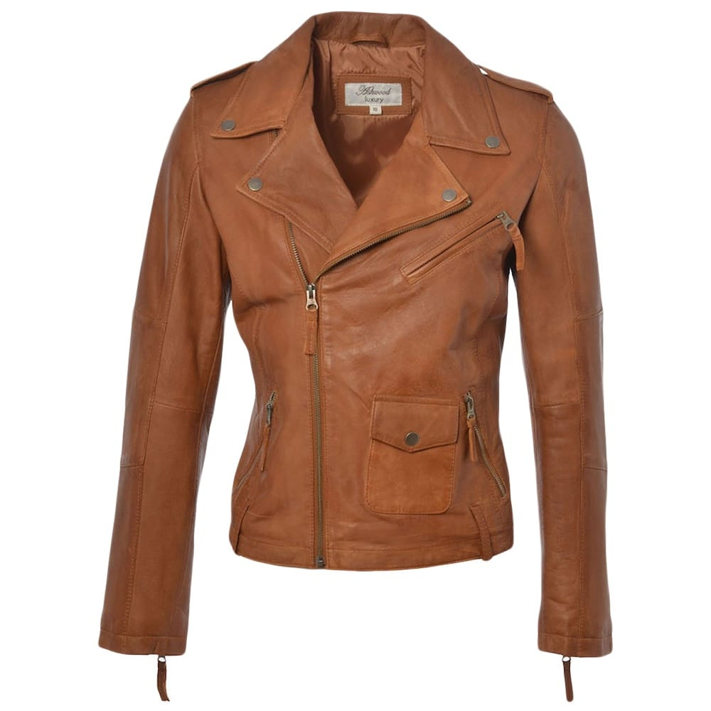 Womens Leather Jacket Tan Madonna Womens Leather Jackets