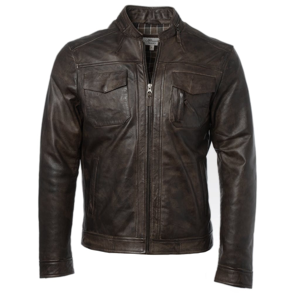 Mens Leather Jacket Timber Edinburgh Mens Leather Jackets