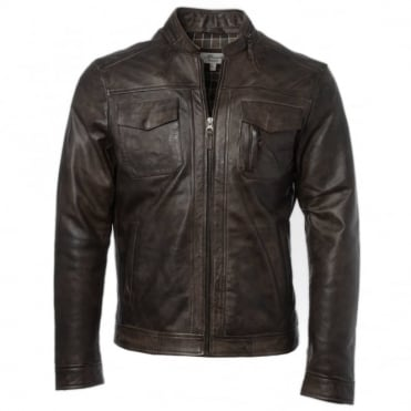 Leather Jacket Timber : Edinburgh