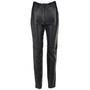 Leather Jeans Black : G1