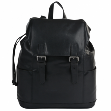 Leather Rucksack Black : Harvey