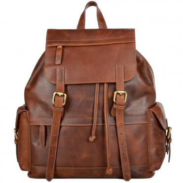 Leather Rucksack Rust - California