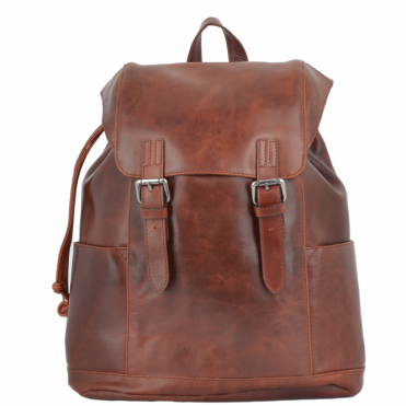 Leather Rucksack Tan : Harvey