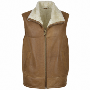 Leather Sheepskin Gillet Tan : Norden