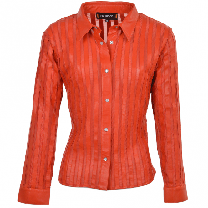 Ashwood Leather Shirt Red : Alina