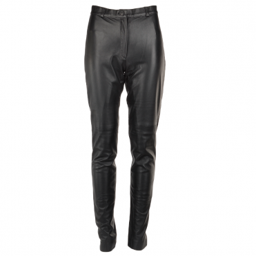 Leather Trousers Black : 766