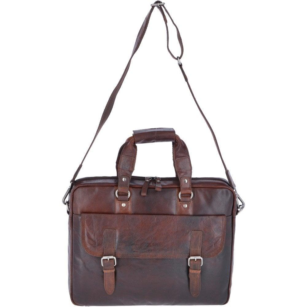 Ashwood Leather Vintage Laptop Work Bag Brandy F 83 Mens From