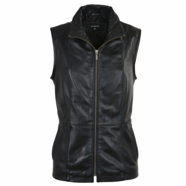 Leather Waiscoat Black : Ashley
