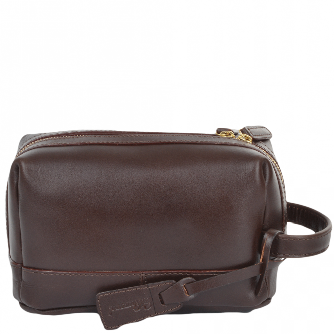 489e3fd66 Mens Leather Wash Bag Brown : 7006 | Leather Bags