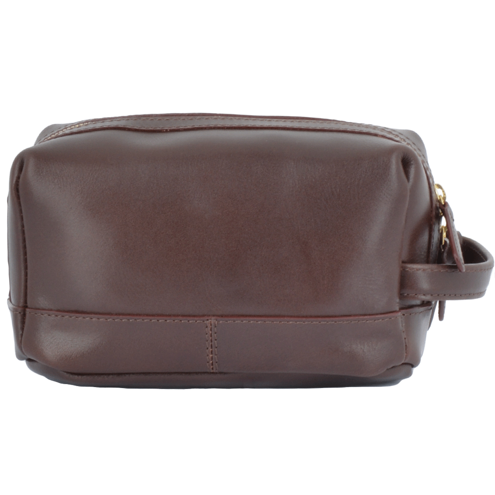 02f6747827 Mens Leather Wash Bag Brown   Rudy