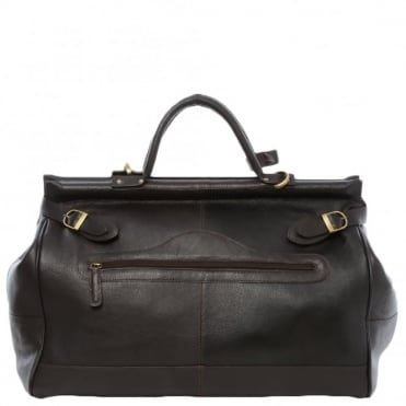 Leather Weekend Holdall Brown/tum : Gladstone