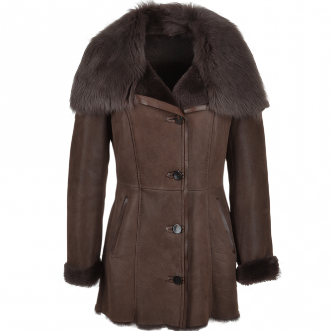 Ashwood Long Hair Toscana Lapel Coat Brown : Toscwan