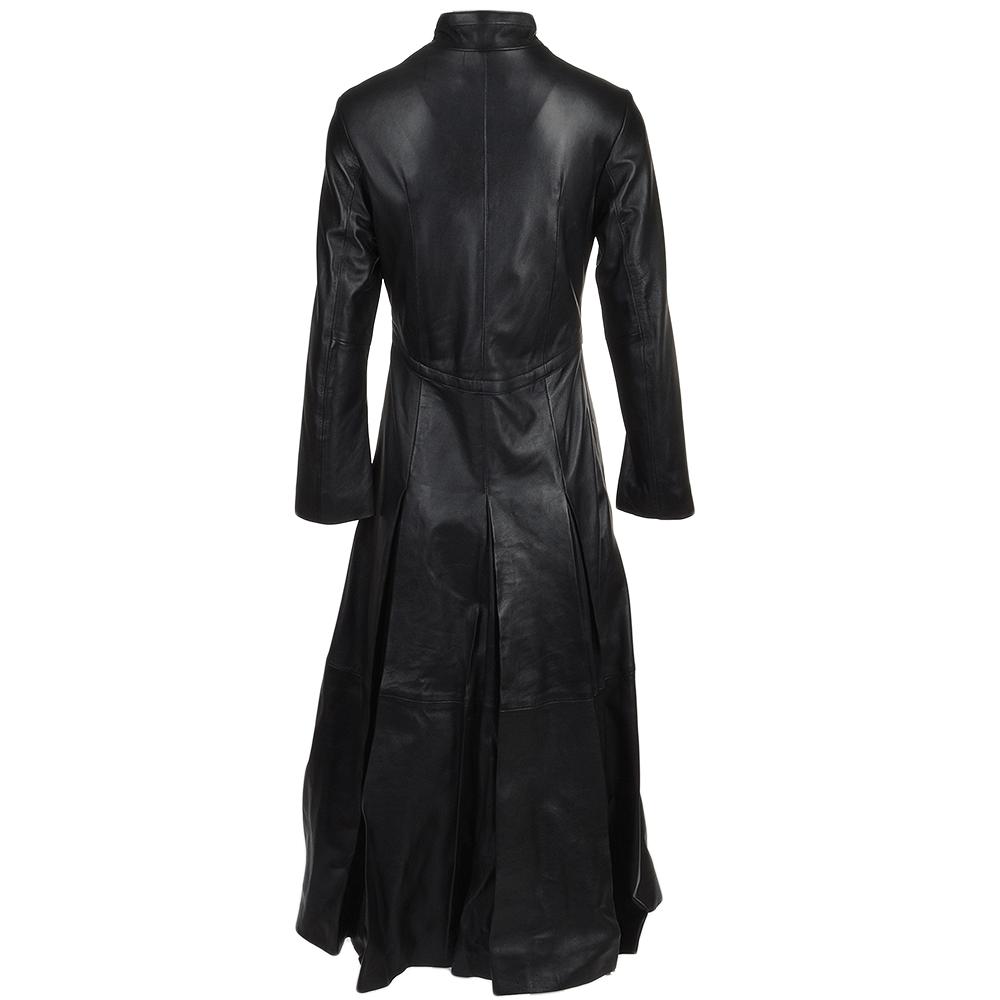 Womens Long Length Gothic Coat Black Trinity