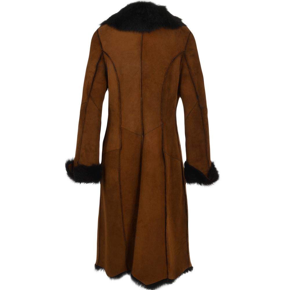 women u0026 39 s toscana suede leather coat whisky  blk   alaska