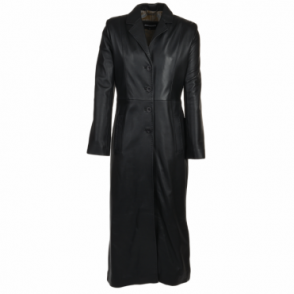 Long Length Trench Coat Black/nap : Adreana