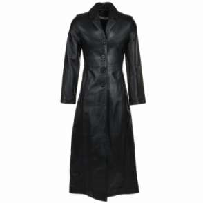 Long Length Trench Coat Black/nap : Ballari