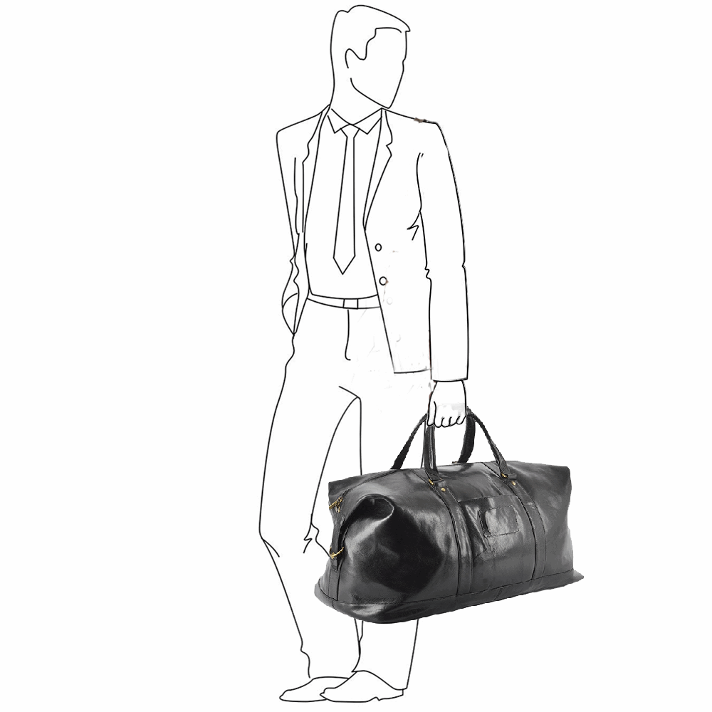 ba7a25077fa Mens Extra Large Leather Travel Holdall Black vt   2081   Leather ...