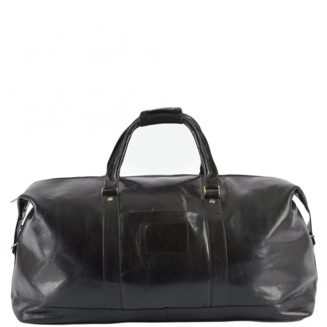 Ashwood Extra Large Leather Travel Holdall Black/vt : 2081