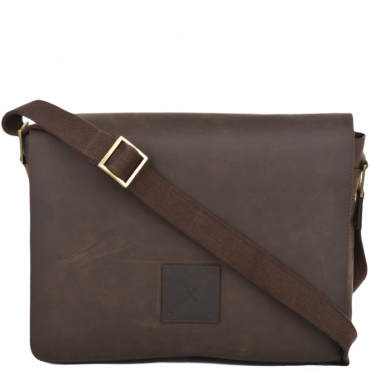 Five Pocket Carry All Leather Messenger Bag Mud/mud : Pedro