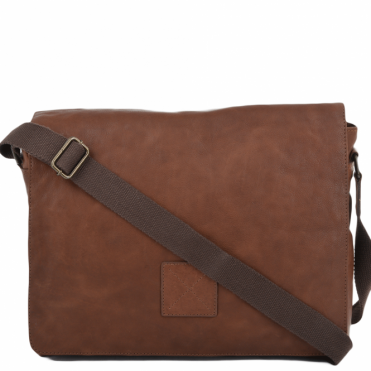 Five Pocket Carry All Leather Messenger Bag Tan/col : Pedro