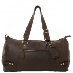 Leather Travel Holdall Mud/mud : Duccani