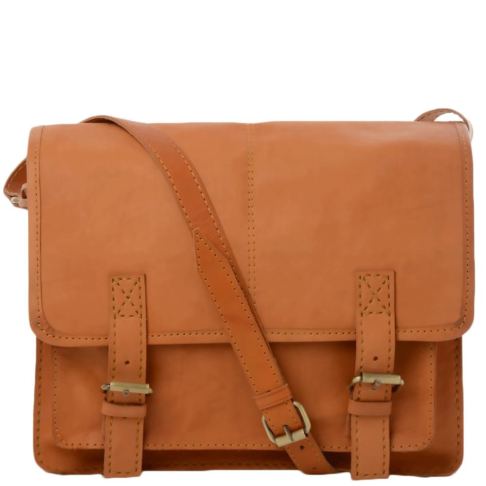 Mens Handmade Vintage Leather Satchel Tan vt   Vin-041