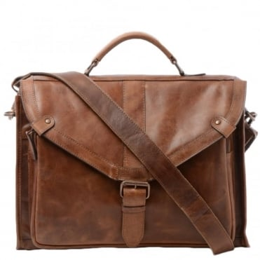 Mens Leather Briefcase Tan : Tycho